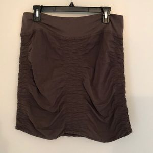 Light weight brown skirt with stretchy waist band